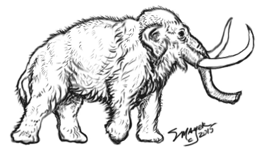 Stacey mayer 39 s free online coloring pages for Wooly mammoth coloring page
